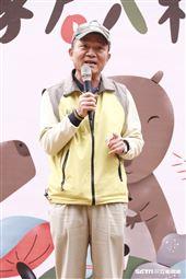 頑皮世界副總李英俊為水豚君入村揭幕。(圖/記者林聖凱攝影)