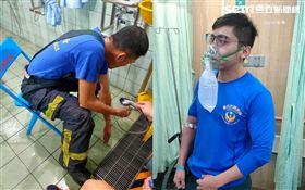 鋰電池,爆炸,消防,台北,華山分隊 翻攝畫面