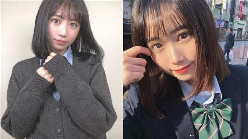 最可愛女高中生,新田步凪,岡本結芽乃,日本/翻攝ig