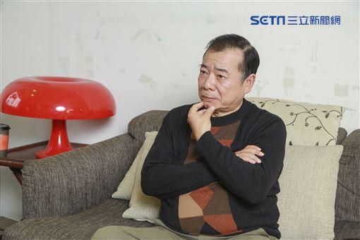 《喜從天降》演員廖峻、小八張允曦一同接受三立新聞網專訪,廖峻兒子廖錦德陪同現身。(圖/記者林士傑攝影)