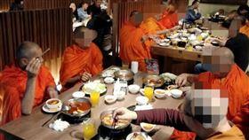 火鍋,吃素,佛教,高僧,吃肉,喝酒 圖/翻攝爆廢公社公開版