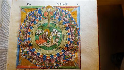 澄定堂將藏書移藏到國家圖書館(2)華人藏書家族「澄定堂」近年陸續將一些西洋古籍善本、首刷版以寄存方式,移藏到國家圖書館。圖為1486年的「科貝格聖經」,科貝格是15世紀德國地區最重要的出版家和印刷師傅,買下科隆聖經109塊雕版在紐倫堡進行印刷,為基督教印刷史上的一座標竿。(國家圖書館提供)中央社記者陳至中台北傳真  108年12月24日