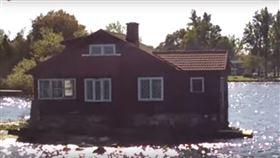 世界最小島嶼尺寸驚人 僅容一棟房 圖/翻攝自idrow1 Youtube