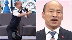 韓國瑜、博恩(組合圖/圖/資料照、擷取自博恩夜夜秀YouTube「STR Network」頻道,版權歸薩泰爾娛樂所有)