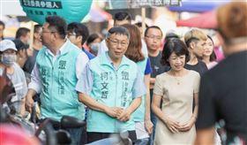 柯文哲,台灣民眾黨,拜票(圖/翻攝自柯文哲臉書)