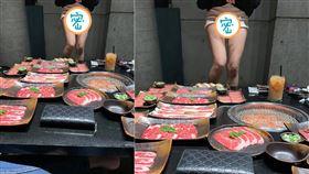 「火才剛開怎麼就熱了」 吃燒烤女露白皙長腿(加藤軍路邊隨手拍