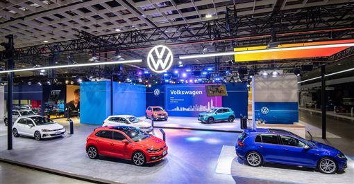 ▲台北車展Volkswagen展區(圖/Volkswagen提供)