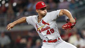 ▲紅雀後援投手辛克斯(Jordan Hicks)2019年飆出103英哩火球。(圖/美聯社/達志影像)