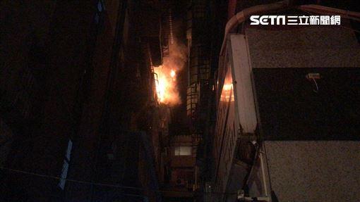 台北市北投區套房氣爆火警現場(翻攝畫面)