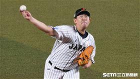 12強日本隊先發投手山口俊。(圖/記者王怡翔攝影)