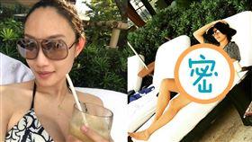 超模邱馨慧在泰國留下性感孕照。(圖/翻攝自邱馨慧臉書)
