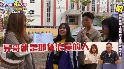 ▲影片前半段全是街訪大學生,對於這位歌手的瞭解。(圖/Koobii鬧大學 授權)