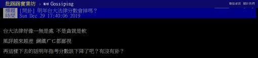 台灣,大學,指考,韓國瑜,總統辯論會,東吳大學,台大,PTT 圖/翻攝自PTT