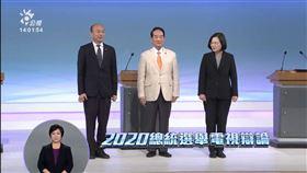 2020大選總統辯論會,韓國瑜,蔡英文,宋楚瑜