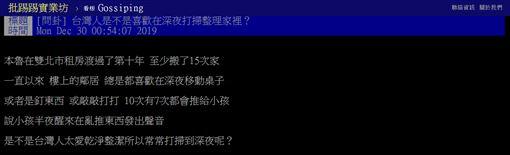 台灣,整理,深夜,打掃,PTT 圖/翻攝自PTT