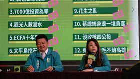 蔡英文總統競選辦公室31日召開「2019韓市長不實謠言年終大掃除」記者會。(圖/蔡競辦提供)