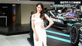 ▲Panasonic Jaguar Racing I-TYPE電動方程式賽車。(圖/鍾釗榛攝影)