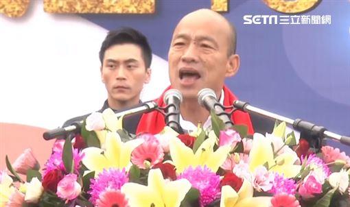 ▲韓國瑜出席高雄市政府元旦升旗典禮