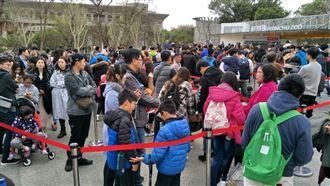 元旦新竹動物園擠爆!入園得排2小時