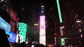 紐約時報廣場  水晶球落下迎接新年