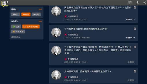 總統大選,辯論會,事實查核,韓國瑜,錯誤訊息,PTT 圖/翻攝自Readr