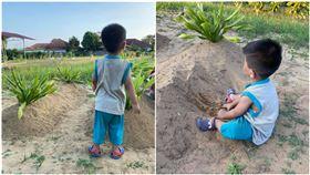 車禍害父母雙亡!2歲童呆坐墳墓前:媽媽…(圖/翻攝自Azuan Shamsuddin臉書)