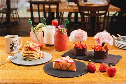 ▲草莓甜點(圖/台北中山意舍酒店提供)
