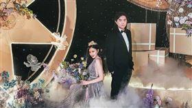 B2甜娶小12歲美嬌妻穿百萬婚紗震懾全場。(圖/米兔哥娛樂提供)
