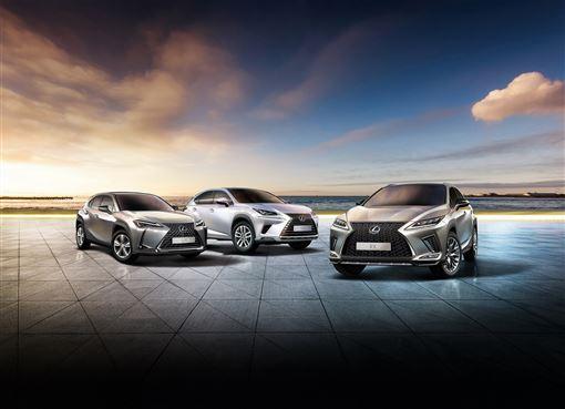 ▲Lexus UX、NX、RX(圖/Toyota提供)