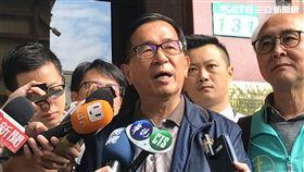 ▲陳水扁強調實在忍無可忍,不對韓國瑜等人提告,他死也不會闔眼。(圖/記者楊佩琪攝)
