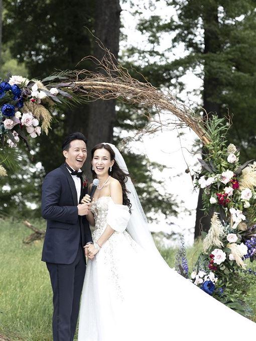 大陸藝人韓庚與女星盧靖姍於12月31日在紐西蘭舉行婚禮(HUGO BOSS提供)