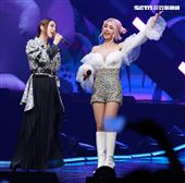 蔡依林舉辦《Ugly Beauty》巡迴演唱會來到第四場,邀請鄧紫棋。(記者邱榮吉/攝影)