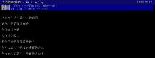 台北,台中,改變,交通,台灣,PTT 圖/翻攝自PTT