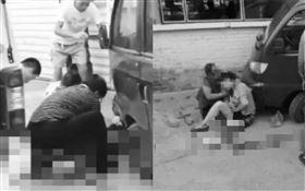 國中師酒駕!女子「左腿被撞飛」滿地血…男老師賠不起輕生(圖/翻攝自微博)