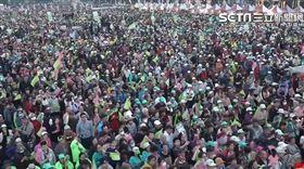 蔡英文台南造勢!人潮擠爆飆15萬人 震撼「空拍圖」曝光