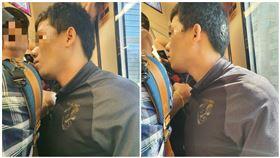 男在捷運上掏下體(翻攝自推特)