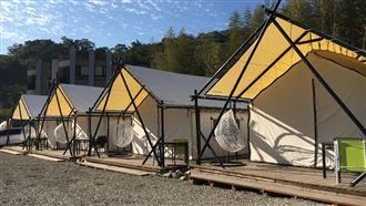 露營玩出新高度!全台唯一帳篷湯屋!