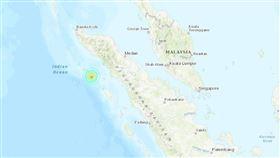 印尼亞齊省外海發生規模6.2地震 無海嘯威脅(圖/翻攝自USGS網頁earthquake.usgs.gov)