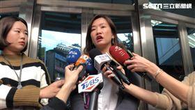 韓國瑜競總發言人王淺秋在中正一分局受訪(楊忠翰攝)