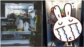 爆廢公社二館,爸爸,人父,眼睛貼紙,瞪,冰箱,食物,靈魂,小朋友,可愛,宵夜,深夜,左圖翻攝自pixabay