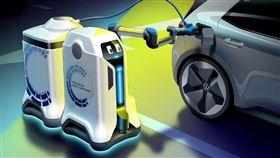 ▲Volkswagen充電機器人。(圖/翻攝網站)