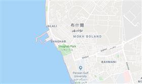 波斯灣沿岸,伊朗,布什爾,核電廠,地震(google map)