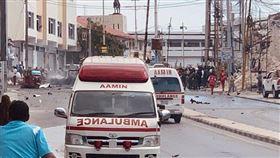 (圖/翻攝自推特@Magdashi3)索馬利亞,摩加迪休,汽車炸彈攻擊