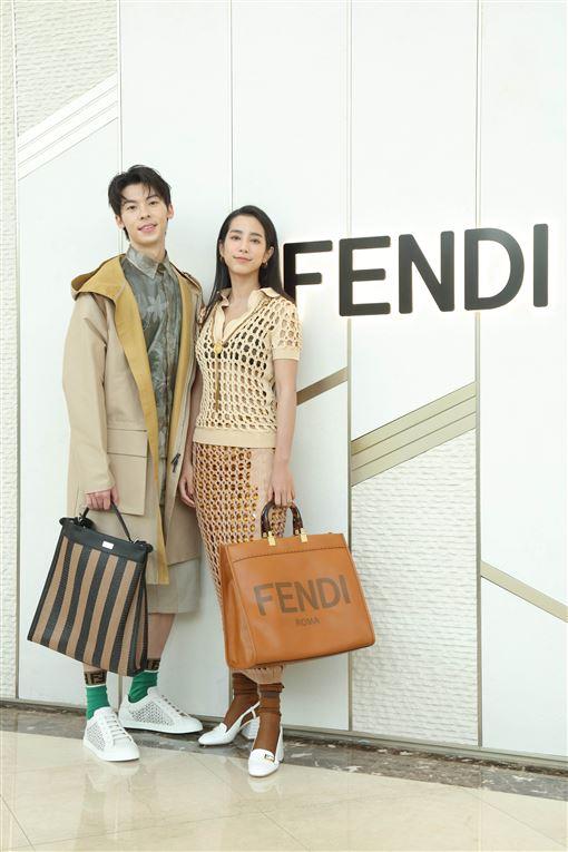 大勢女演員溫貞菱,國民男友許光漢(FENDI提供)