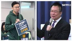 國民黨義務副秘書長蔡正元,民進黨副秘書長林飛帆。(組合圖)