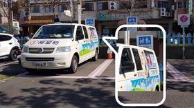 藍宣傳車遭爆違規占車位
