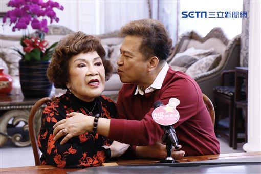 ▲(圖/記者林聖凱攝影)李朝永與周遊接受《三立新聞網》訪問
