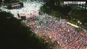 ▲韓國瑜造勢晚會喊出20萬人