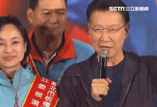 ▲趙少康出席韓國瑜凱道造勢晚會