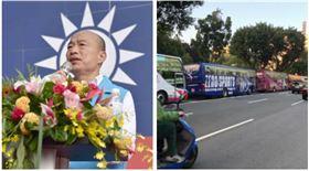 ▲韓國瑜、遊覽車(組合圖,資料畫面、PTT)